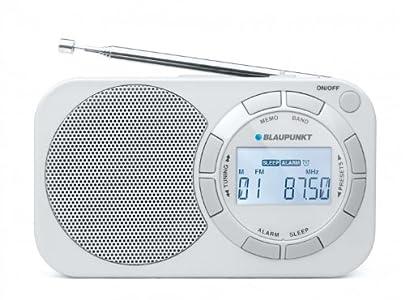 Blaupunkt BD 321 Radio réveil Digitale de Voyage avec PLL FM/MW Blanc
