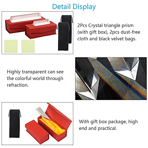 CINMOK Crystal Triangle Prism