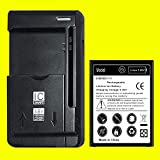 High Capacity 4400mAh Rechargeable Li_ion Battery with Universal Travel Dock USB/AC Charger for LG Stylo 3 LS777 Boost Mobile/Virgin Mobile/Sprint