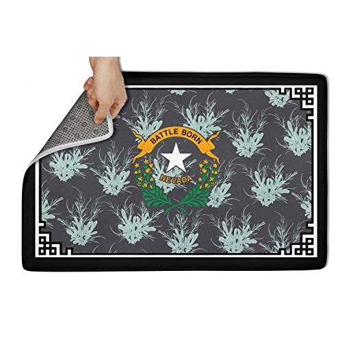 TONGZIRT Outside Doormat Nevada Big Sagebrush Welcome Rugs Patterned Doormats
