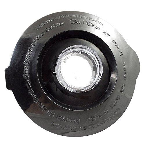 Black Fits Models (Univen Blender Jar Lid, Fits Black and Decker 381228-00 Glass Blender Jar)