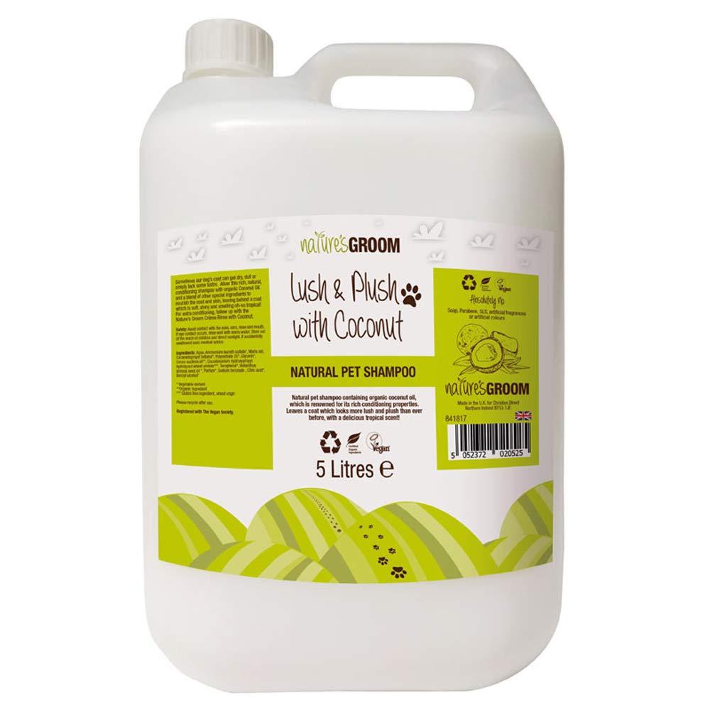 Nature's Groom Lush & Plush with Coconut Shampoo 5L