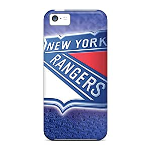 Shock Absorbent Cell-phone Hard Cover For Iphone 5c (BNz7251UeaG) Unique Design Trendy New York Rangers Series