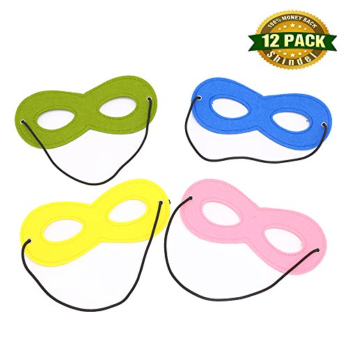 Shindel Superhero Mask, Cosplay Mask Party Dress Up Mask With Elastic Ribbon For Party Favor Role Playing, 12 Pcs