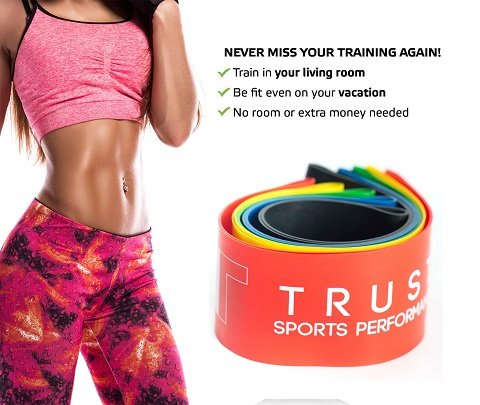 2 Professional Core Sliders & 5 Resistance Bands Set (Carry Bag Included) - Home Gym Fitness for Ab Workout and Full Body Exercises - Exercise Routine Included | Unique Gift | by Trustsporting (Image #2)
