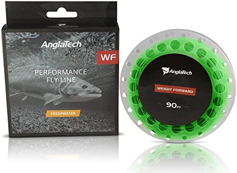 Anglatech Fly Fishing Line Floating Weight Forward WF 3 4 5 6 7 WT for Trout Dry Fly and Freshwater Nymphing