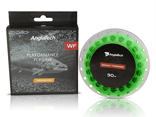 Anglatech Fly Fishing Line Floating Weight Forward WF 3 4 5 6 7 WT for Trout Dry Fly and Freshwater Nymphing (Line Freshwater Fly Floating)
