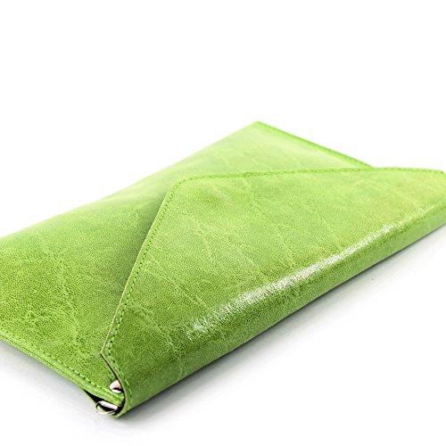 ModaModa de T106G �?Bolso de mano para mujer, piel italiana lisa verde claro