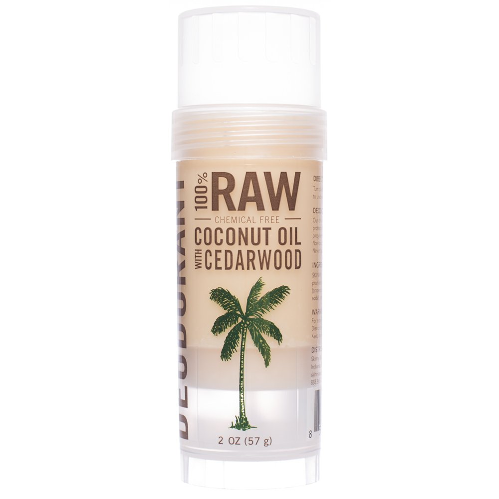 Skinny & Co. All-Natural Chemical-Free, Aluminum Free, Deodorant with Coconut Oil (2 Oz.) (Cedarwood)