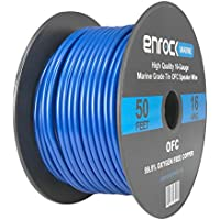 Enrock Audio Marine Grade Spool of 50 Foot 16-Gauge Tinned Speaker Wire - Connects to A/V Receiver and Amplifier - Flexible PVC Tin Copper Plated OFC Wire Ideal For Marine Speaker Installations