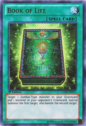 Yu-Gi-Oh! - Book of Life (LCJW-EN211) - Legendary Collection 4: Joey's World - 1st Edition - Ultra Rare (Life Rare)