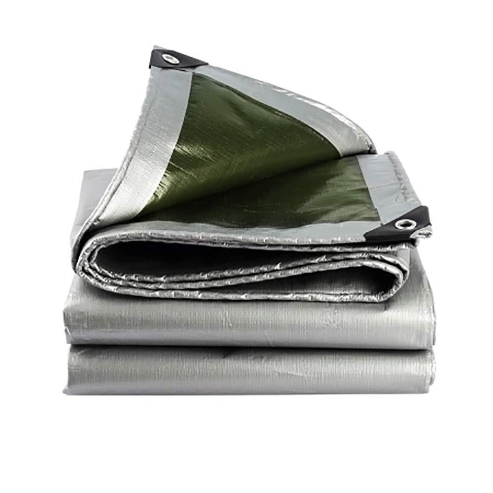 WCS Gepolsterte Plane Wasserdichtes Sonnenschutztuch Mit Plane Caravan Wasserdichte Leinwand Plane PVC Beschichtete Markise Plane Wasserdichte Tuch Plane Grau (200g   Quadratmeter, Dicke  0,3 mm) Zelt