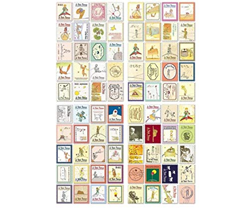 4 Sheets Set Little Prince Paper Vintage Postal Stamp Decal Craft Stickers Scrapbooking DIY Diary Planner School Supply