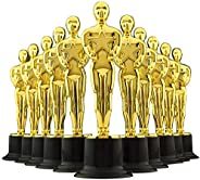 """6"""" Gold Award Trophies - Pack of 12 Bulk Golden Statues Party Award Trophy, Party Decorations and Appreci"""
