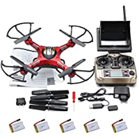 JJRC H8D 2.4GHz Gyro RC Quadcopter Drone GEEDIAR 360°Rolling Action 4 Channel Helicopter with Camera & Led Night Fly