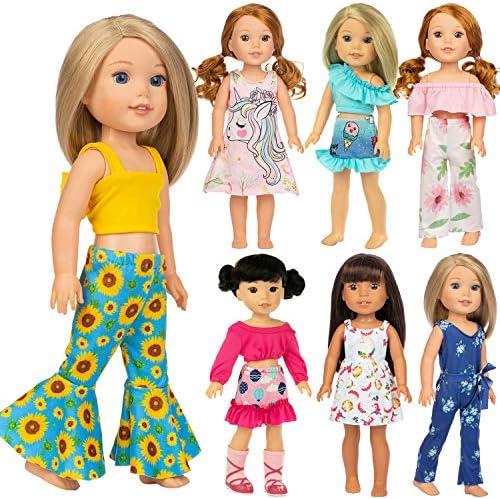 [해외]Ecore Fun 11 It 14.5 Inch Doll Clothes Outfits Dresses Skirts Jumpsut for American 14.5 Inch Girl Wishers Dolls / Ecore Fun 11 It 14.5 Inch Doll Clothes Outfits Dresses Skirts Jumpsut for American 14.5 Inch Girl Wishers Dolls