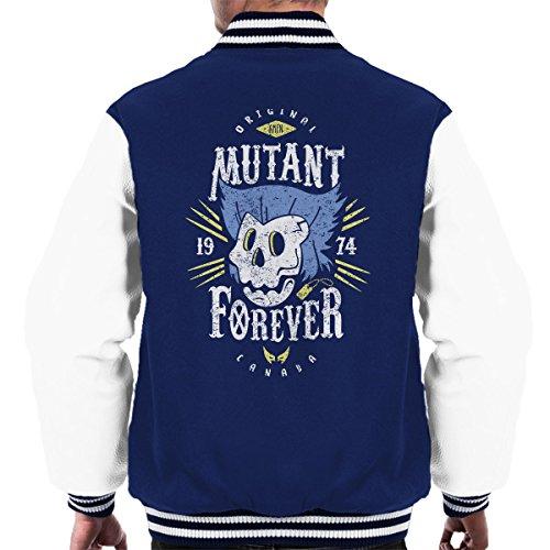 Wolverine Men X Men's Navy Mutant white Forever Varsity Jacket g5aCnqw