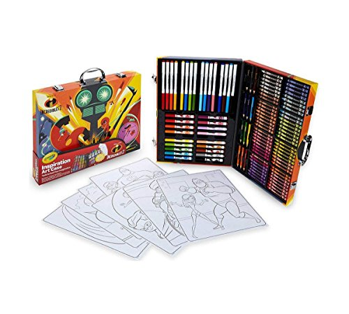 Crayola 04-3315 Disney Pixar Incredible 2 Inspiration Art Case, 125 Pieces Art Gift for Kids 5 & Up, Crayons, Markers, Colored Pencils & Coloring Pages In A Convenient Incredible 2 Carrying Case