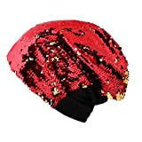 Women'S Knitted Casual Glossy Peas Sequined Warm Hat
