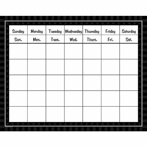 Teacher Created Resources Black Sassy Solids Calendar Grid by Teacher Created Resources