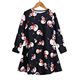 Vovotrade Little Baby Girls Princess Dress Christmas Costume Snowman Clothes Long Sleeve Party Dress