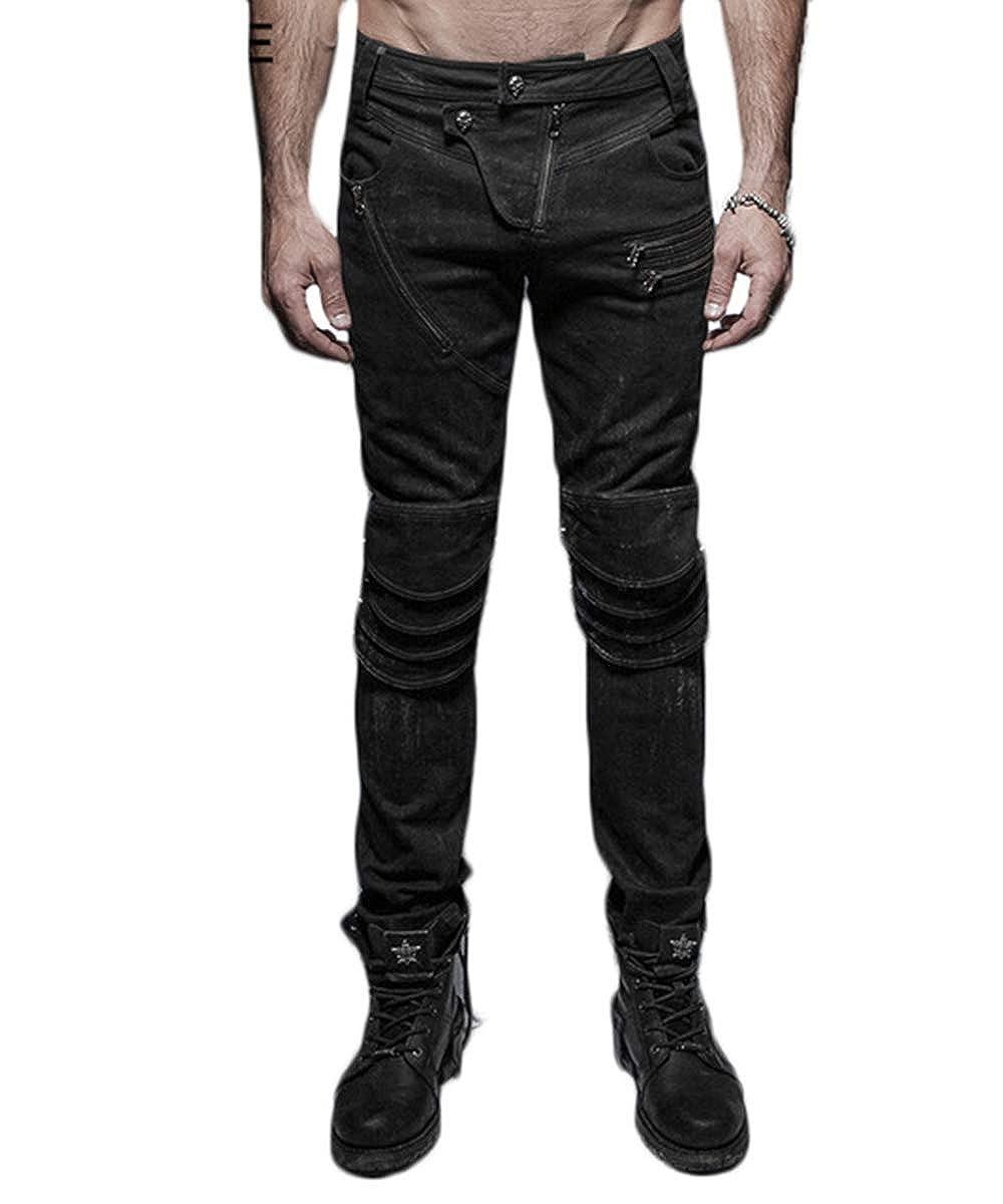Amazon.com: Punk Rave - Pantalones de hombre para hombre ...