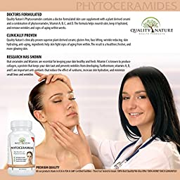 Phytoceramides 350 Mg, Plant Derived - With Vitamins A, C, D , E , Advanced Anti-aging - Skin Care Supplement - Gluten Free Offered By Quality Nature.