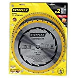 OVERPEAK 80 Tooth and 32T ATB Thin Kerf 12-inch Crosscutting Miter Saw Blade, 2 in 1 Pack