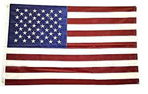 Shop72- Embroidered Stars Sewn Stripes American Flag 3 x 5 Ft - 210D Oxford Sturdy Nylon Flags Canvas Header Brass Grommet Wind Side Double Stitches USA Flag