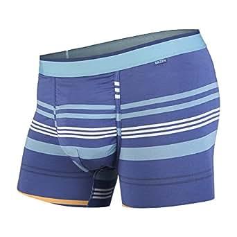BN3TH Men's Standard Classics Trunk Brief Premium Underwear with Pouch, Sydney Harbour Stripe, X-Small