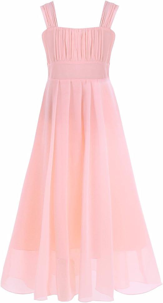 Tiaobug Madchen Kinder Festliches Kleid Brautjungfer Prinzessin Lange Kleider Hochzeit Festkleid Abendkleid Gr 104 164 Amazon De Bekleidung