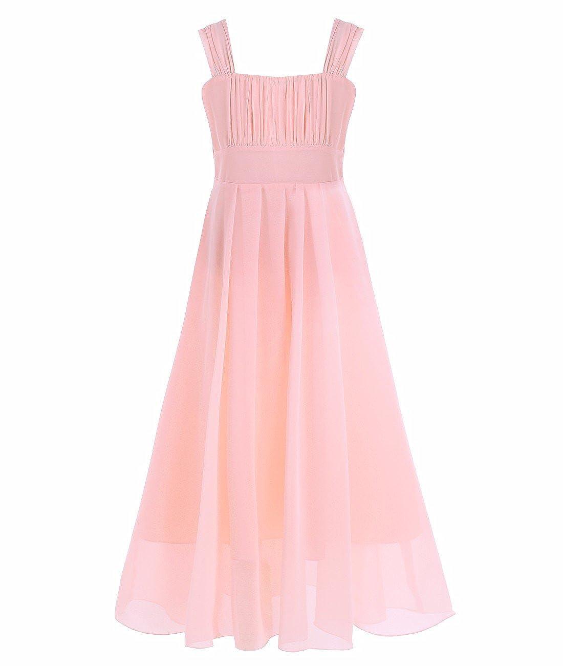 5f1c98a263de3 iEFiEL Big Girls Wedding Party Chiffon Long Dress Junior Bridesmaid Prom  Ball Gown