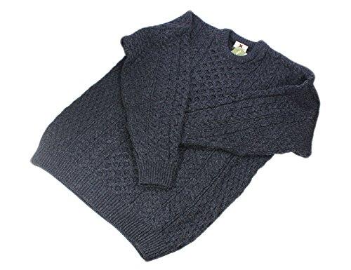 Carraig Donn Herren Jumper Pullover grau gebrochenes weiß Small