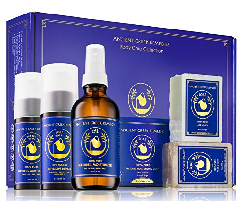 Ancient Greek Remedy Gift set contain Body oil, butter cream, Foot balm, soap set