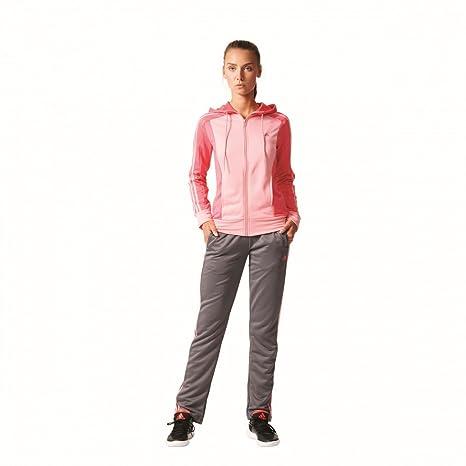 adidas New Young Knit - Chándal para Mujer, Color Rosa/Gris, Talla ...