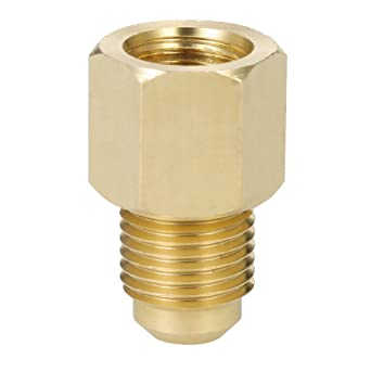 1PC R134a Refrigerant Tank Adapter 1//2/'/' ACME Female to 1//4/'/' Male Flare Fitting