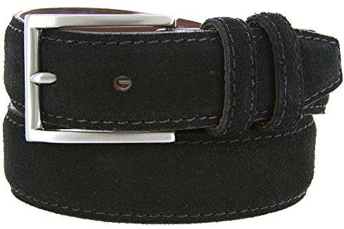 Granada Men's 100% Suede Nubuck Leather Dress Belt 1-3/8