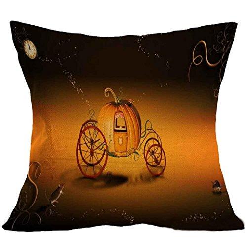 [Charberry Halloween Square Pillow Cover Cushion Case Pillowcase Zipper Closure (E)] (Horror Makeup Value Kit)