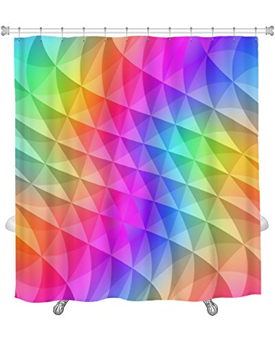 Gear New Prism Squares Pattern Shower Curtain 74