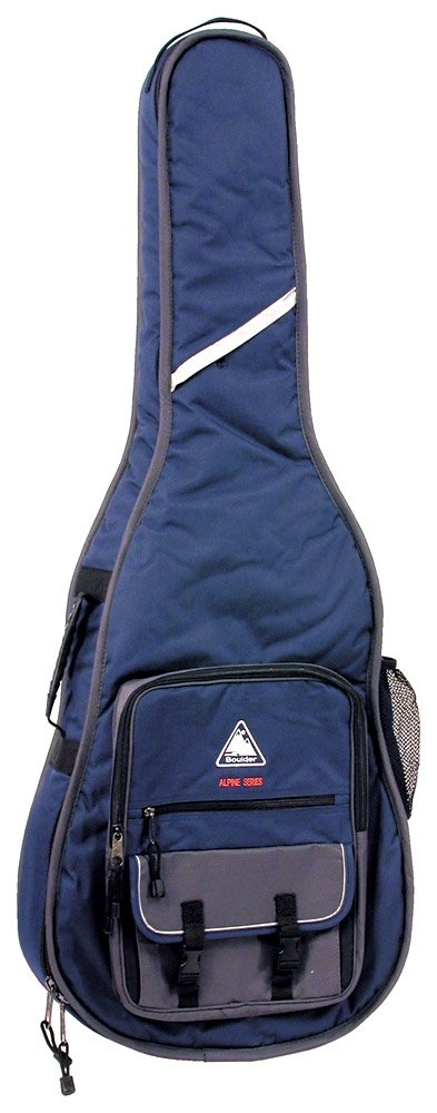 Boulder CB-362BL Alpine Deluxe Classical/Resophonic Guitar Gig Bag - Navy Blue