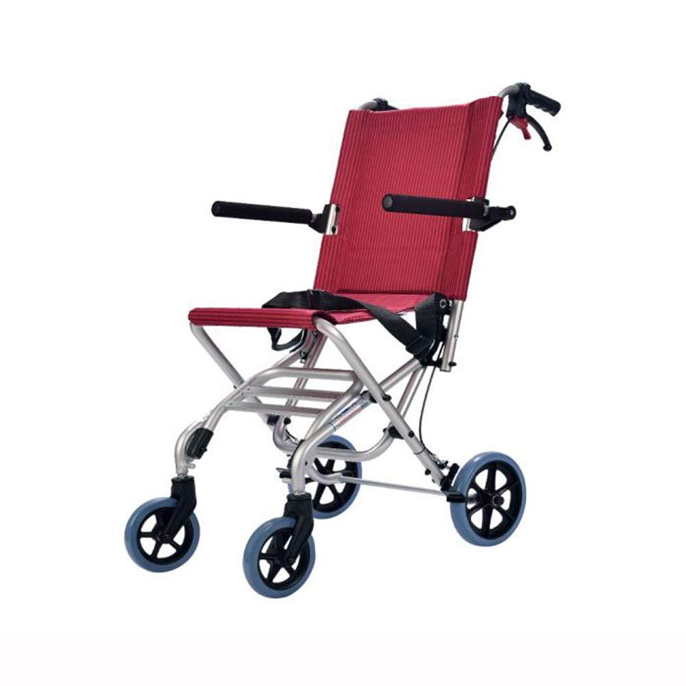世界有名な QIDI : 車椅子 QIDI 折りたたみ 軽量 手動ブレーキ ユニバーサルタイヤ 6.9kg 旅行 安全ベルト ポータブル 6.9kg (色 : Red) Red B07MRHGYXC, ノトマチ:e1cf314d --- a0267596.xsph.ru