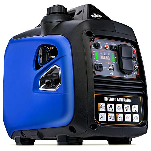 Hike Crew HCIG2250 Portable Inverter Generator | 2250 Watt Super Quiet Outdoor Gas Powered Power Station | Eco Mode | Parallel Ready | CARB/EPA Compliant | Cover Included