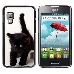 Exotic-Star ( Dark Brown Kitten Blue Eyes ) Fundas Cover Cubre Hard Case Cover para LG Optimus L5 II Dual E455 / E460 / Optimus Duet