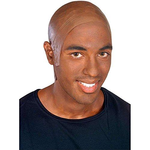 MyPartyShirt Latex Dark Bald Cap -
