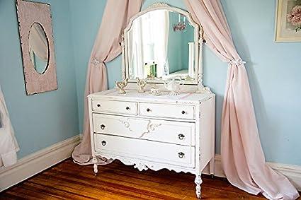 Amazon Com Dresser Shabby Chic White Dstressed Antique Mirror