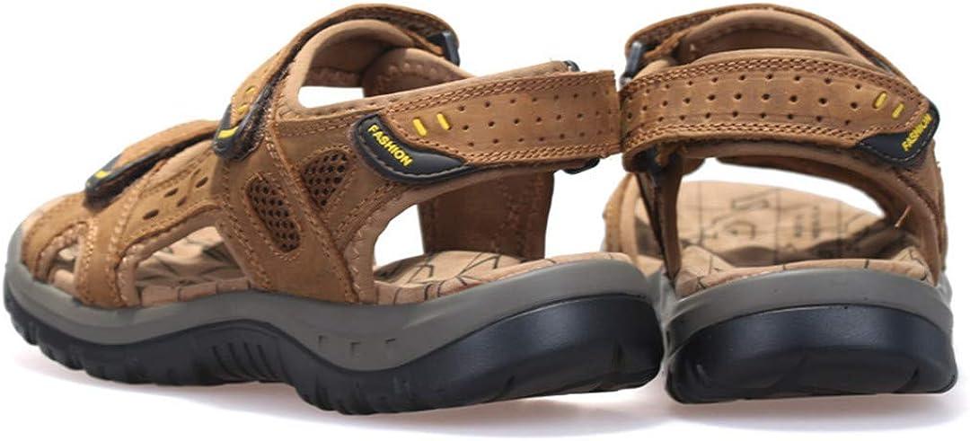 BIKPXWMHQV Summer Leisure Beach Men Shoes Leather Sandals The Big Yards Mens Sandals