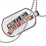 Dogtag Worlds Best Ballet Dancer Dog tags necklace - Neonblond