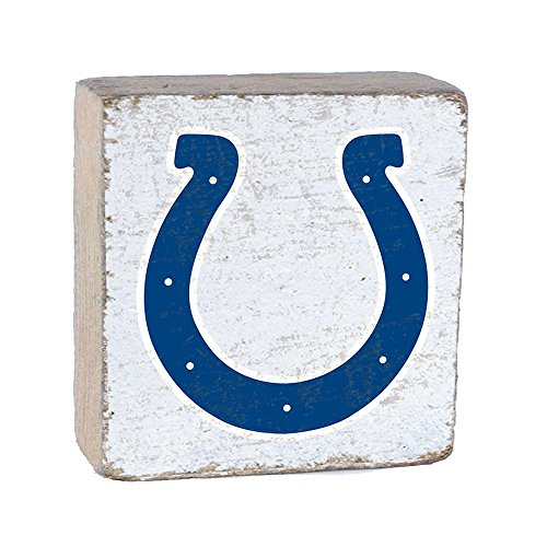 NFL Indianapolis Colts, White Background Team Logo Block by Rustic Marlin 6
