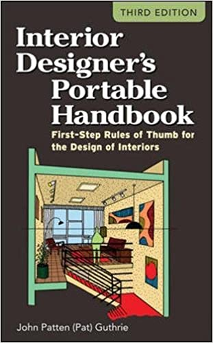 interior designer s portable handbook first step rules of thumb for