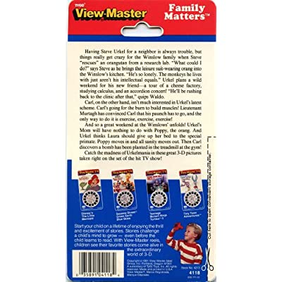 Family Matters - Steve Urkel - Classic ViewMaster - 3 Reels on Card - NEW: Toys & Games